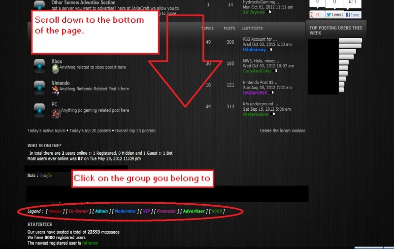 How to change your group on the forum!  Guide211