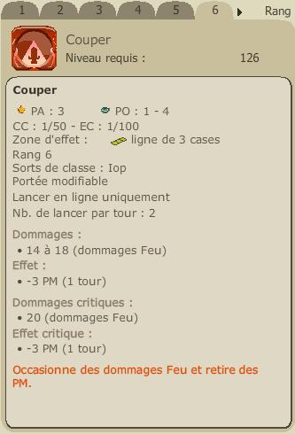 Mise à jour 2.8 et refonte du Iop Couper10