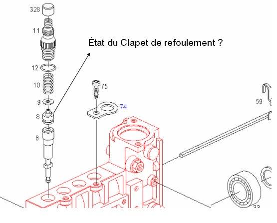 amorcage pompe injection 421 sur moteur 616.911 Clapet10