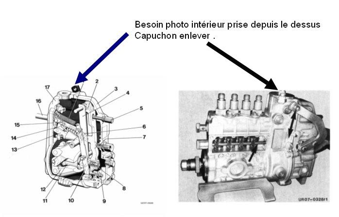 amorcage pompe injection 421 sur moteur 616.911 Pompe210