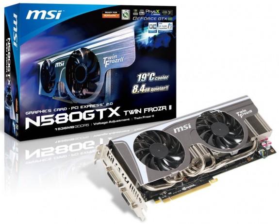 GeForce GTX 580 από την MSI Msin5811