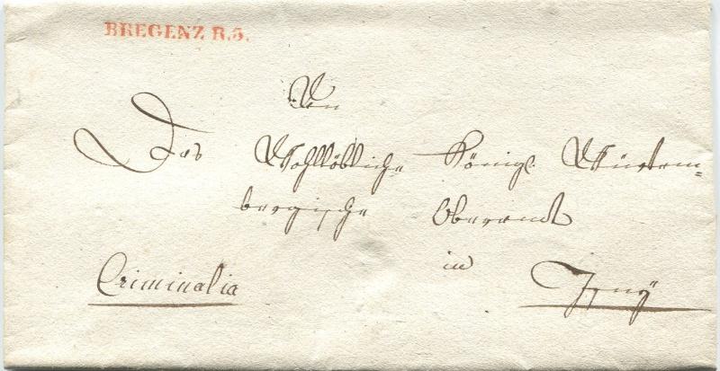 Briefe von - und nach Vorarlberg aus der bayrischen Zeit (1.1.1806 - 7.7.1814) Bregen10