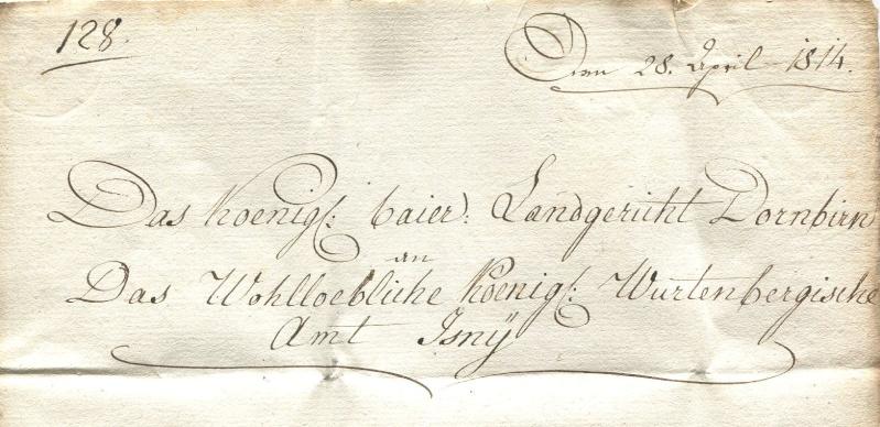 Briefe von - und nach Vorarlberg aus der bayrischen Zeit (1.1.1806 - 7.7.1814) Bregen11
