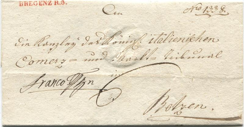 Briefe von - und nach Vorarlberg aus der bayrischen Zeit (1.1.1806 - 7.7.1814) Bregen12