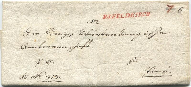 Briefe von - und nach Vorarlberg aus der bayrischen Zeit (1.1.1806 - 7.7.1814) Feldki14