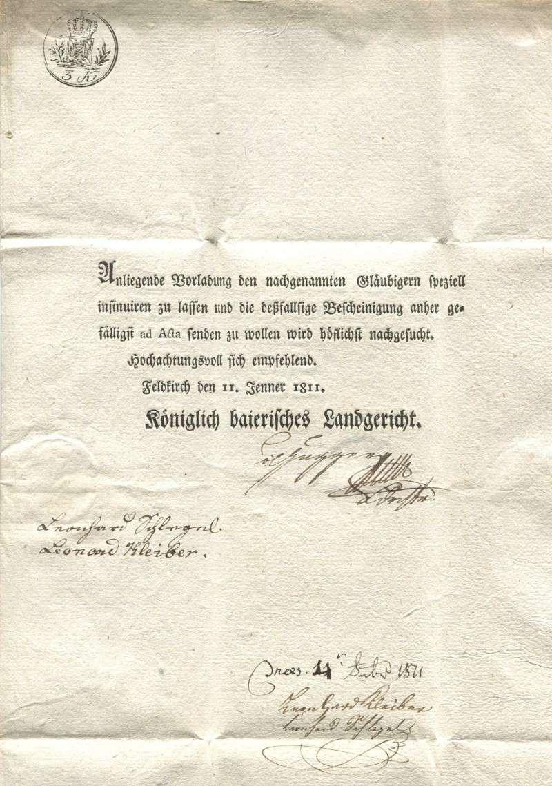 Briefe von - und nach Vorarlberg aus der bayrischen Zeit (1.1.1806 - 7.7.1814) Feldki16