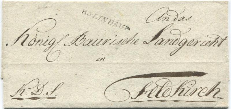 Briefe von - und nach Vorarlberg aus der bayrischen Zeit (1.1.1806 - 7.7.1814) Lindau10