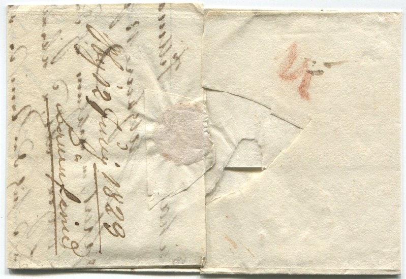 Briefe aus der Vormarkenzeit aus - nach und über Salzburg Mow210