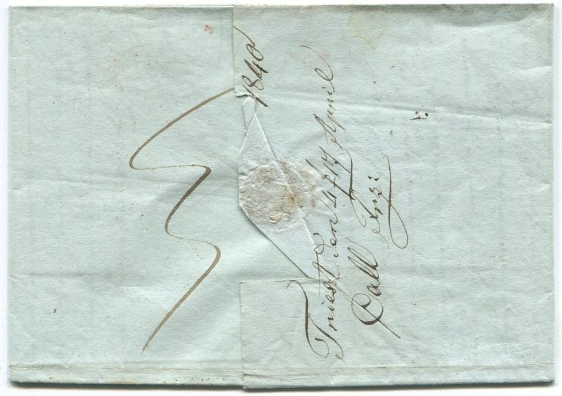 Briefe aus der Vormarkenzeit aus - nach und über Salzburg Triest15