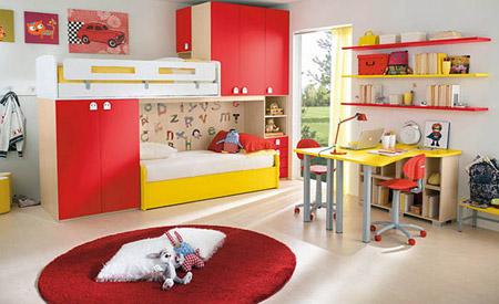 ديكورات غرف نوم للأطفال بألوان رائعه وزاهية 213
