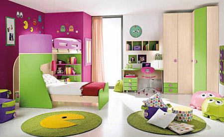 ديكورات غرف نوم للأطفال بألوان رائعه وزاهية 313