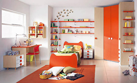 ديكورات غرف نوم للأطفال بألوان رائعه وزاهية 413