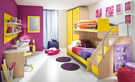 ديكورات غرف نوم للأطفال بألوان رائعه وزاهية 613