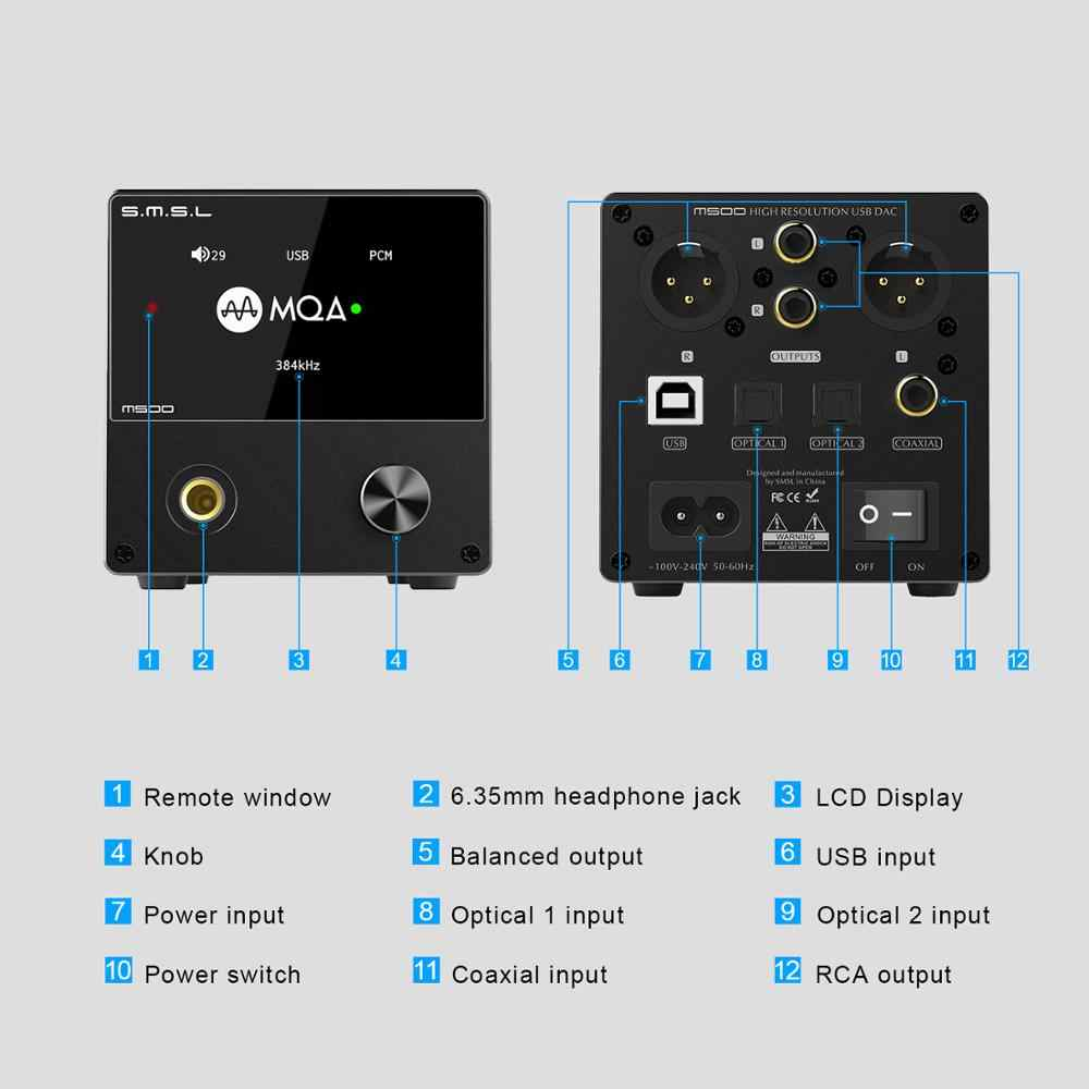 Collegare amplificatore e casse passive al PC Smsl-m10