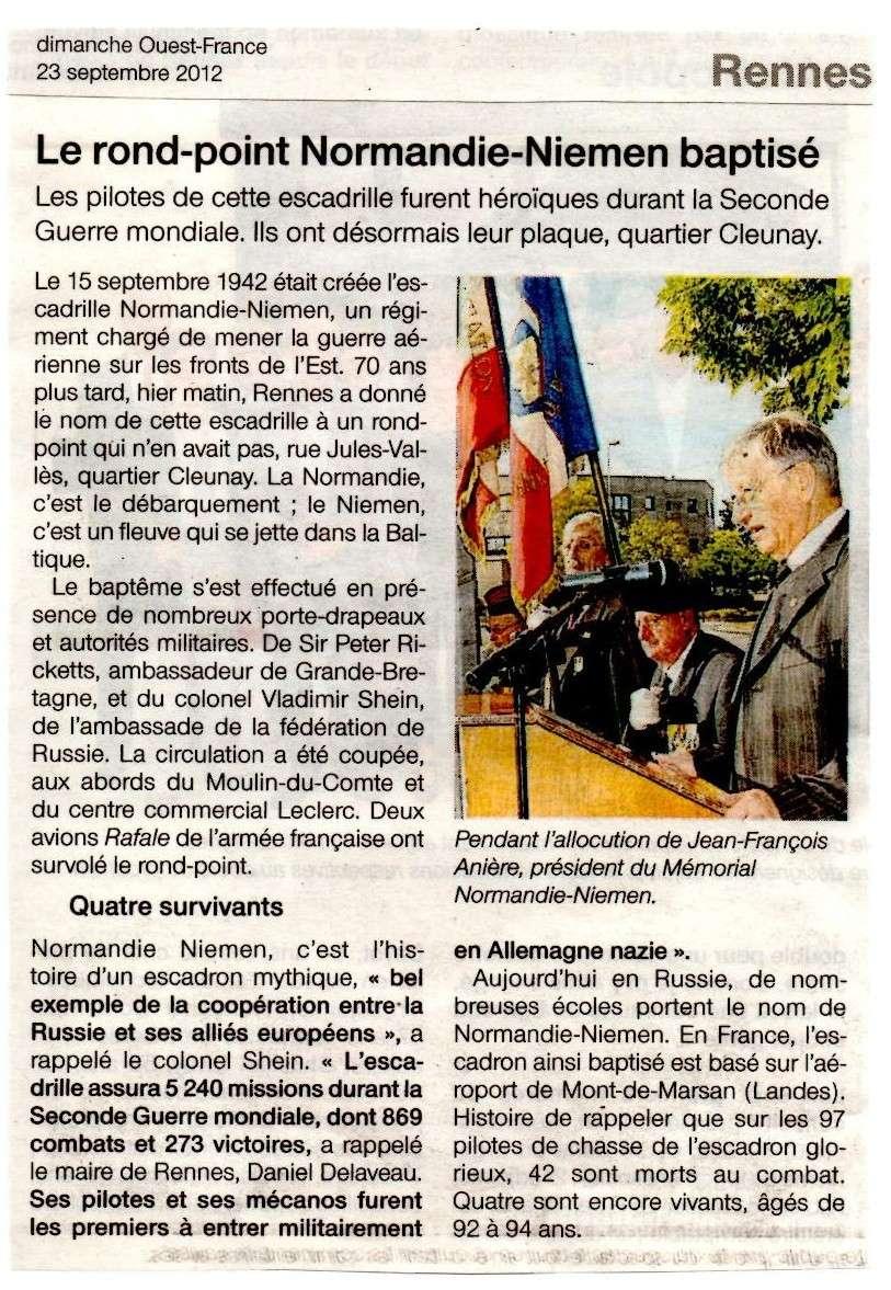 22/09/12, Inauguration d'un rd Pt Normandie-Niemen à Rennes 28981410