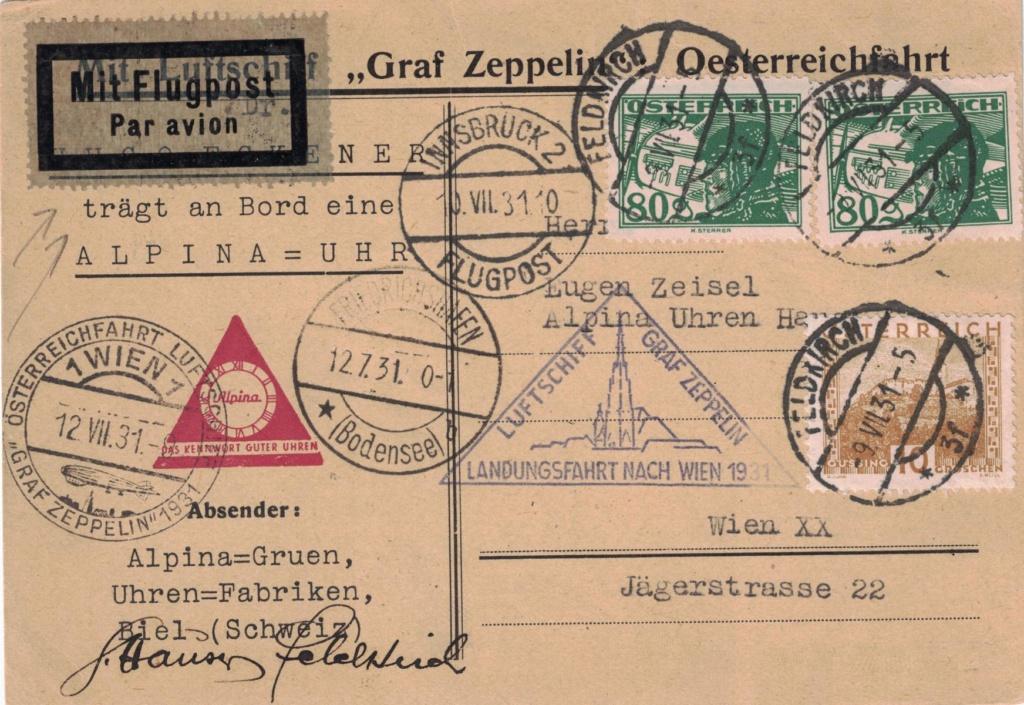 nach - Zeppelinpost aus/nach Österreich Alpina10