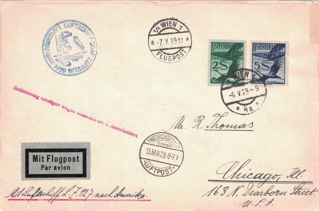 nach - Zeppelinpost aus/nach Österreich Amerik11