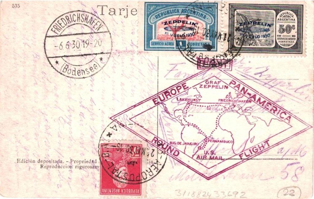 """Südamerikafahrt 1930 (Rundfahrt-) Post nach Friedrichshafen"""" - Seite 8 Arg-fr10"""