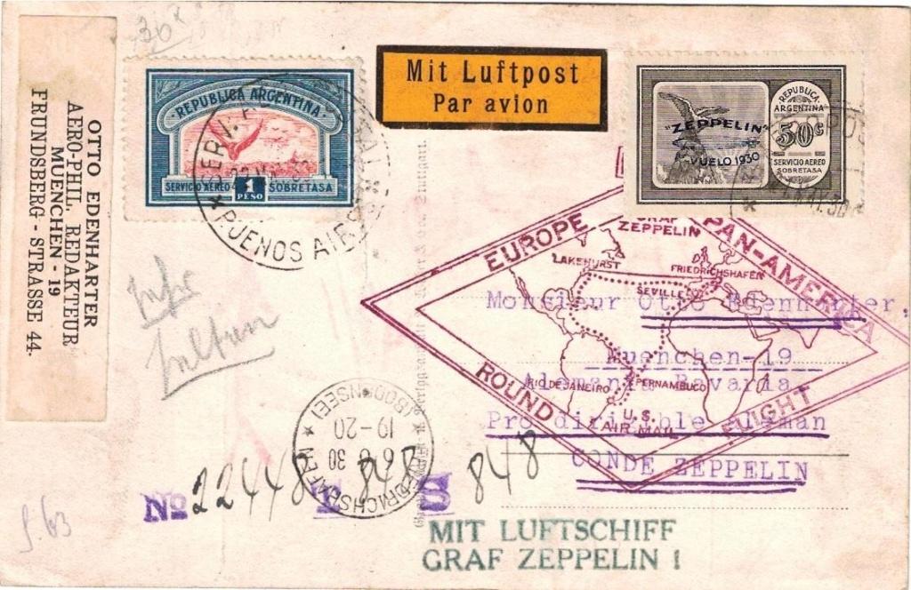 """Südamerikafahrt 1930 (Rundfahrt-) Post nach Friedrichshafen"""" - Seite 8 Edenha11"""