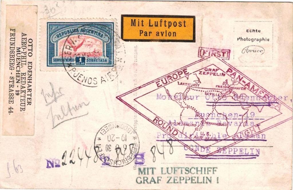 """Südamerikafahrt 1930 (Rundfahrt-) Post nach Friedrichshafen"""" - Seite 8 Edenha12"""