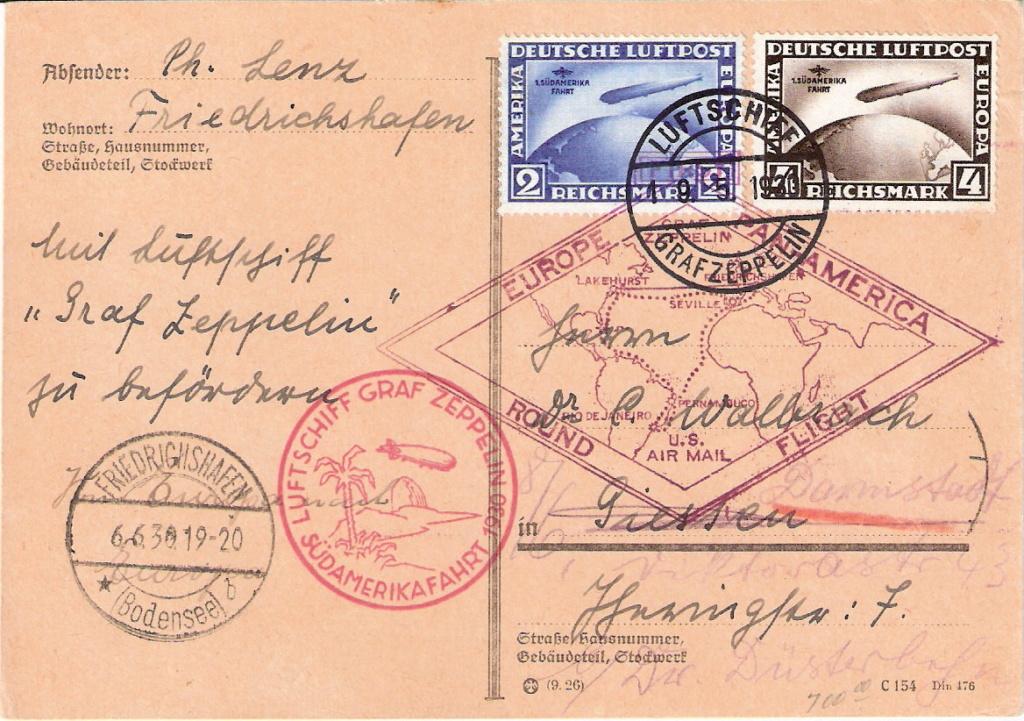 Zeppelinpost der Besatzung Sieger13