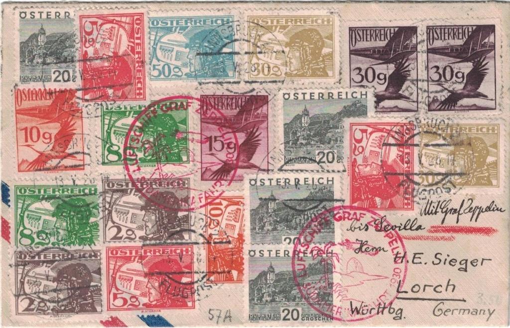 nach - Zeppelinpost aus/nach Österreich Sieger19