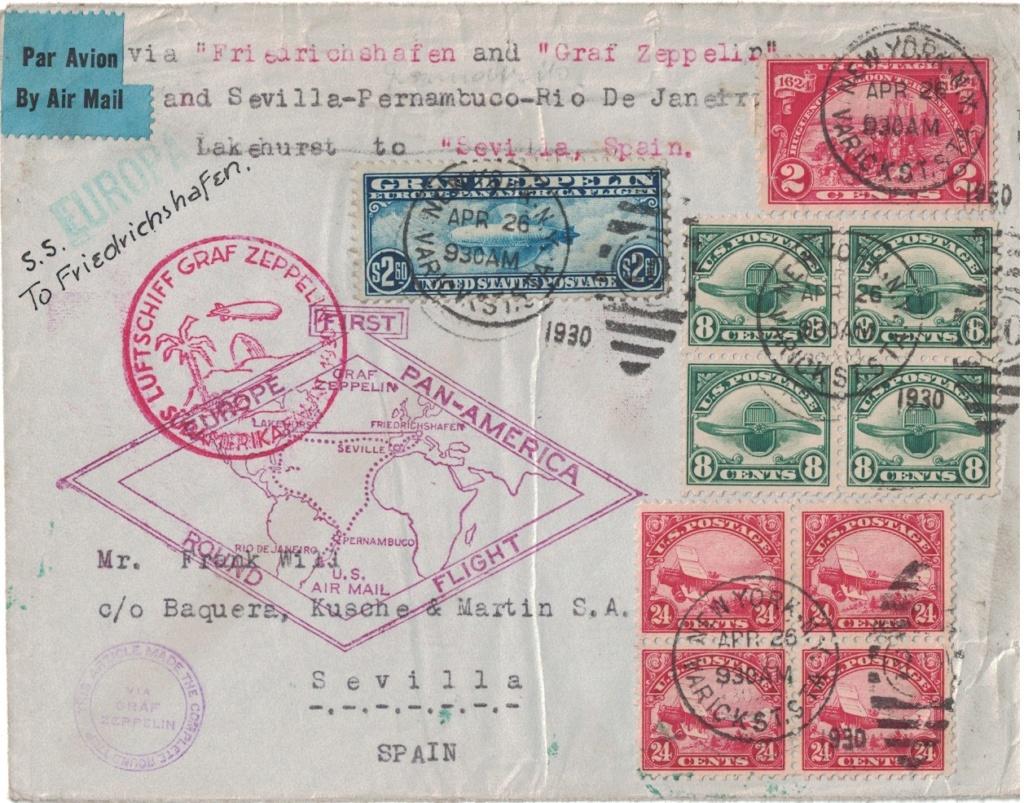 """nach - Südamerikafahrt 1930 (Rundfahrt-) Post nach Friedrichshafen"""" - Seite 7 Usa_fr10"""
