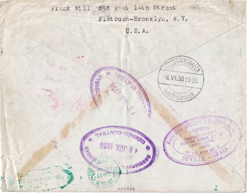 """nach - Südamerikafahrt 1930 (Rundfahrt-) Post nach Friedrichshafen"""" - Seite 7 Usa_fr11"""