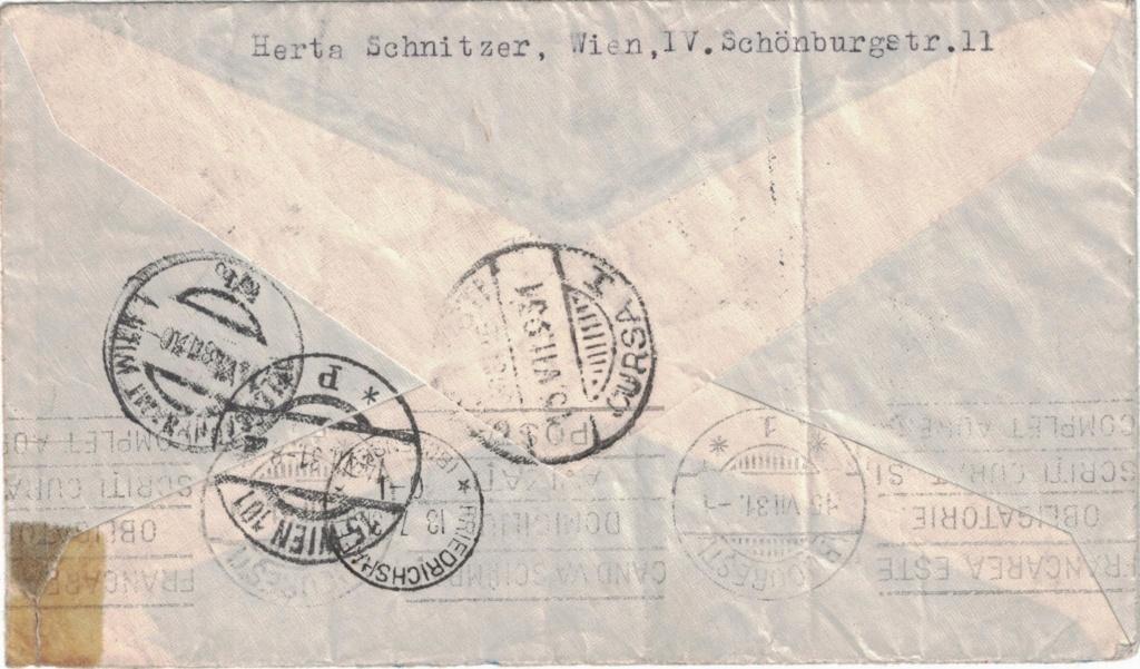 nach - Zeppelinpost aus/nach Österreich Zsterr10