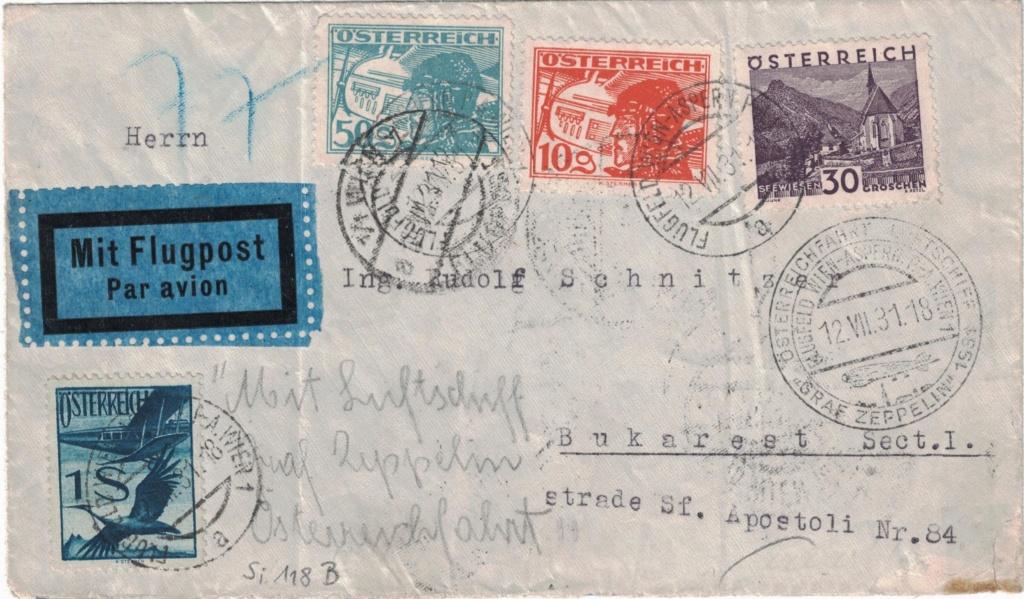 nach - Zeppelinpost aus/nach Österreich Zsterr11