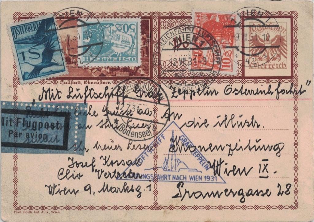 nach - Zeppelinpost aus/nach Österreich Zsterr13