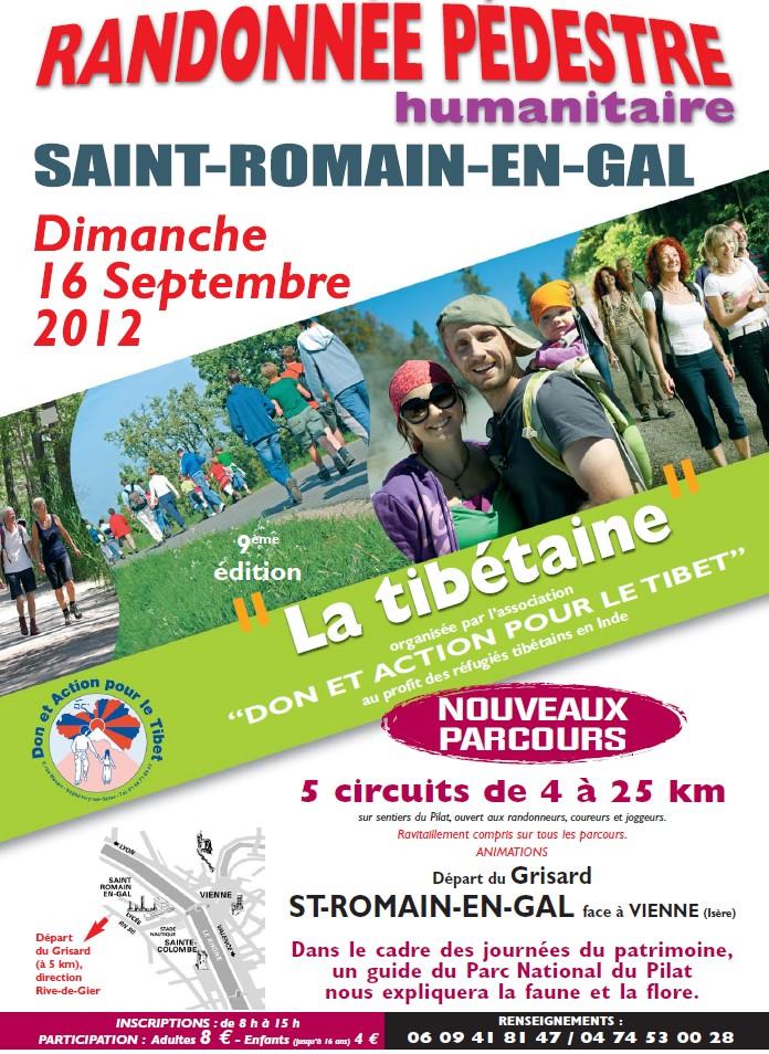 """St Romain en Gal """"Le Grisard"""" Dimanche 16/09/2012 - Randonnée humanitaire """"La Tibétaine"""" 9eme Edition Randot10"""