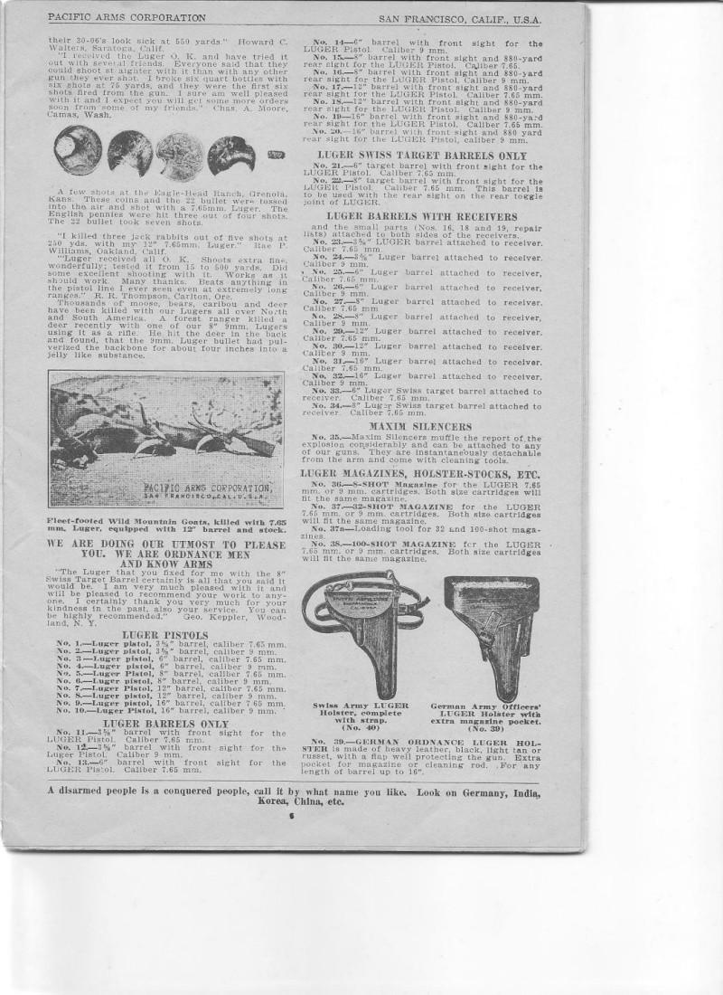 Les étuis et accessoires des Luger commerciaux d'artillerie. Catalo13
