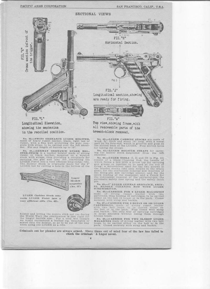 Les étuis et accessoires des Luger commerciaux d'artillerie. Catalo14