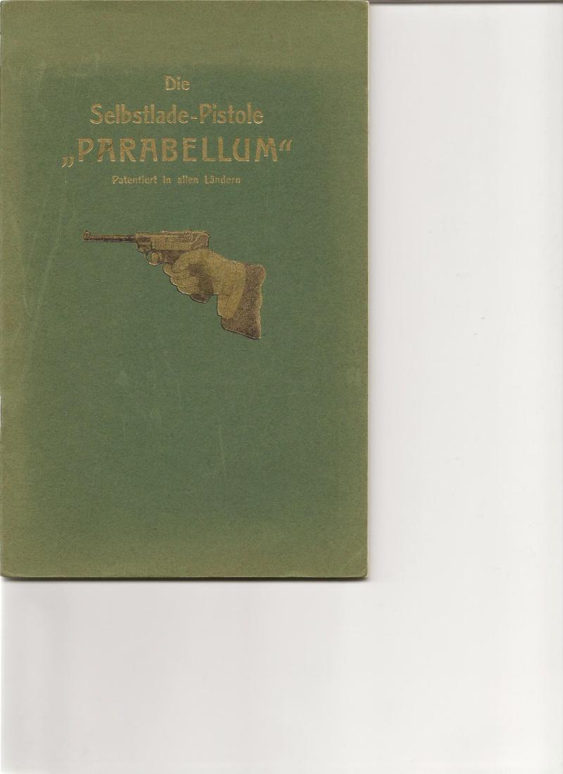 Les étuis et accessoires des Luger commerciaux, dit de marine, 1906-1930. Livret10