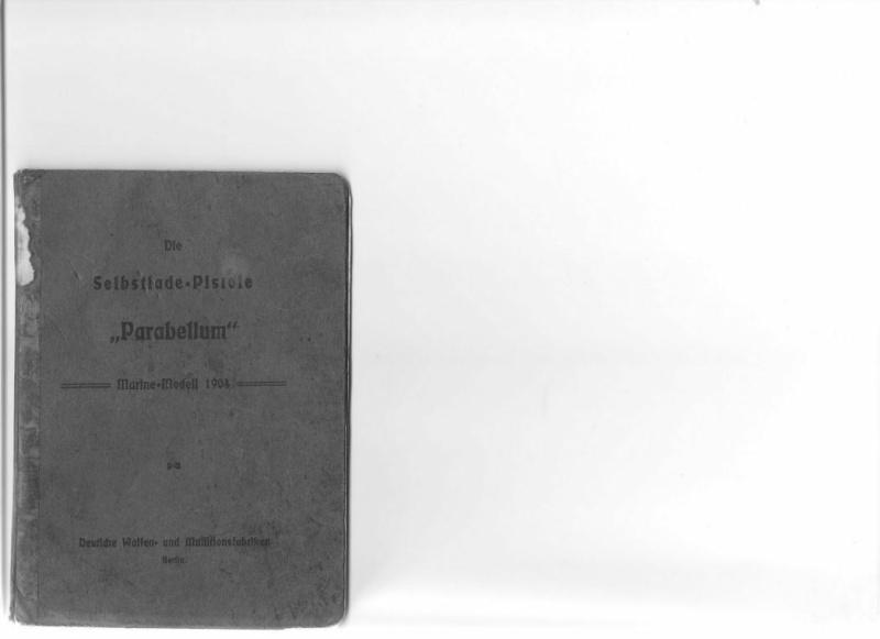 Les étuis et accessoires des Luger commerciaux, dit de marine, 1906-1930. Manuel10