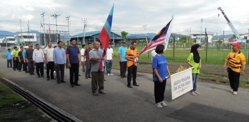 Latihan Perbarisan Hari Kebangsaan Peringkat Negeri Sabah Bagi 31hb. Ogos 2012 113