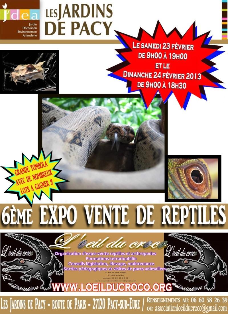 6ème expo-vente de reptiles et arthropodes aux jardins de Pa Affich13