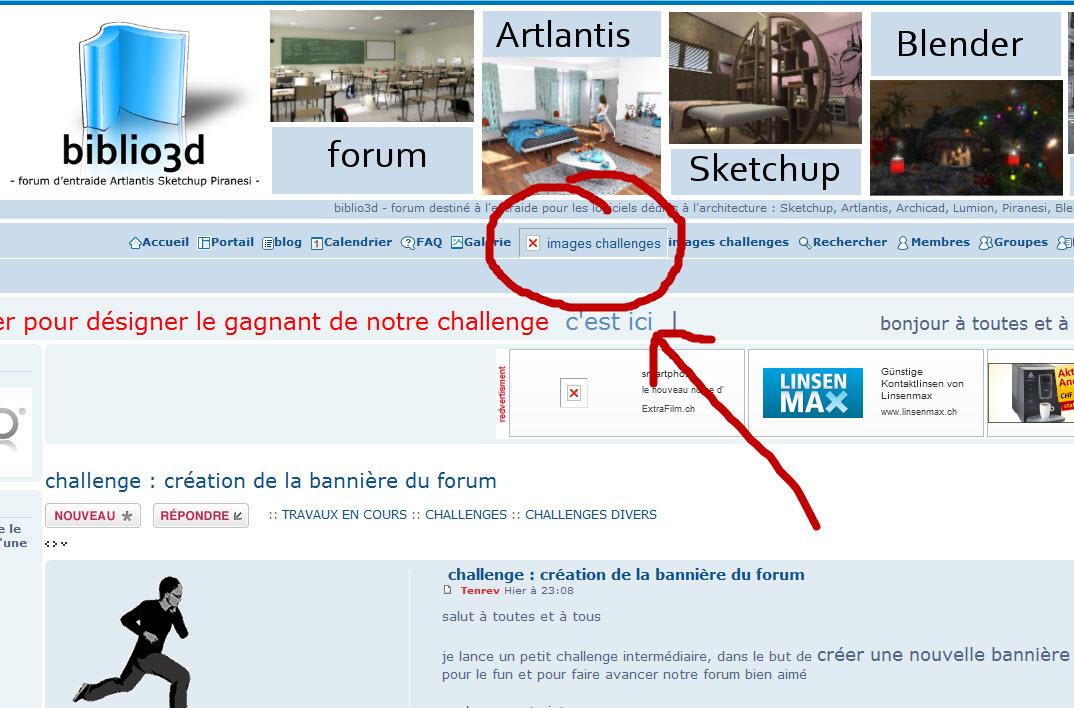 challenge :  création de la bannière du forum  20-09-10