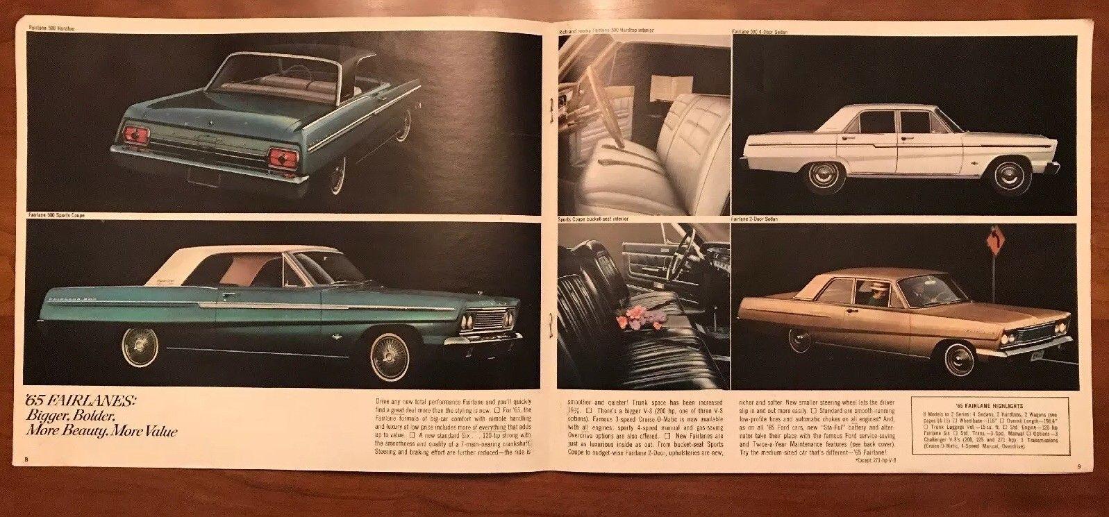 Brochure de vente Ford 1965 (en anglais) 1965_f14