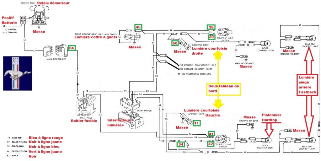 Mustang 1966: Sa se branche ou ? réponse à cette question ! Diagramme électrique  1966_m11