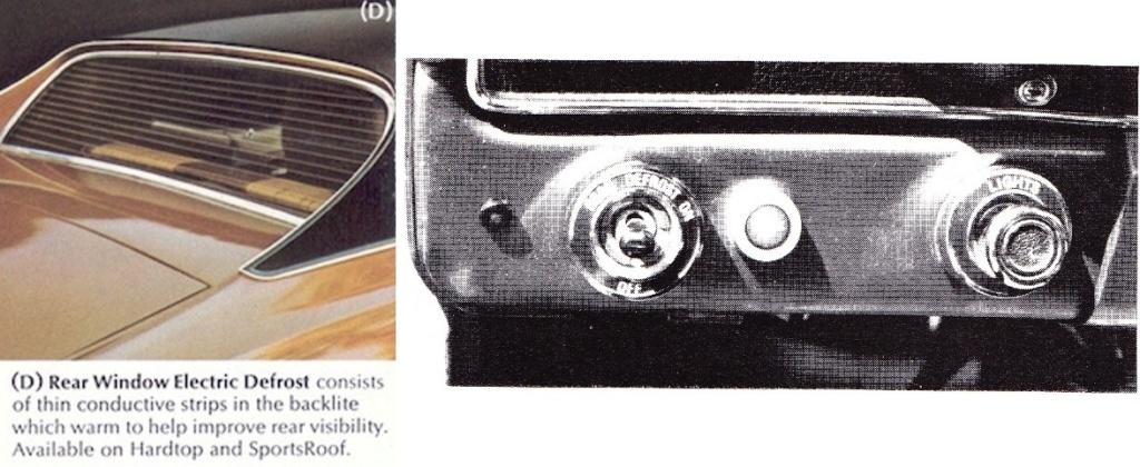 Option pour Mustang 1972: Dégivreur de vitre arrière 1972_m11