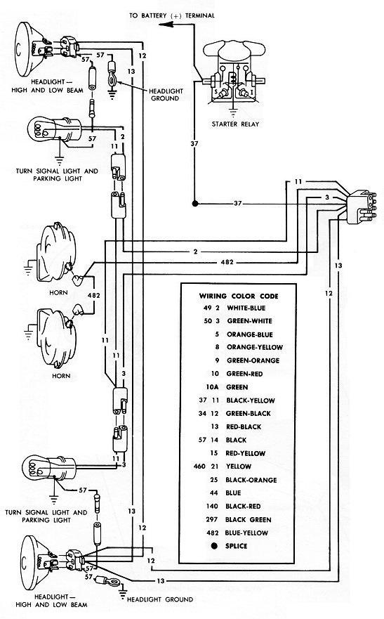 Mustang 1966: Sa se branche ou ? réponse à cette question ! Diagramme électrique  - Page 2 66exte12
