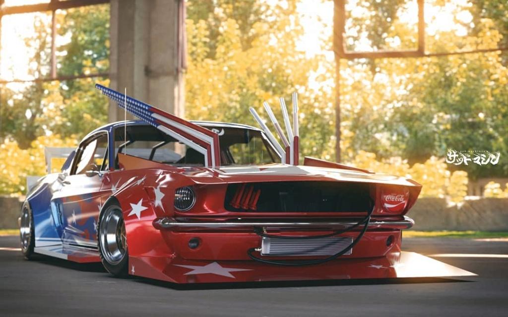 Mustang 1967. Le gagnant catégorie HORREUR ! Bosozo12