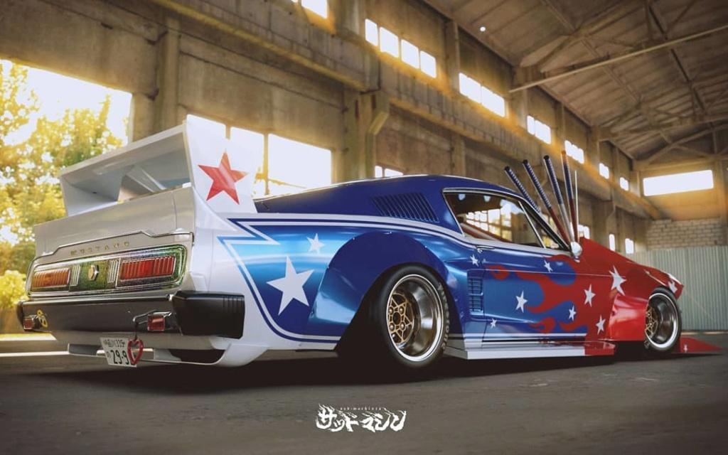 Mustang 1967. Le gagnant catégorie HORREUR ! Bosozo14
