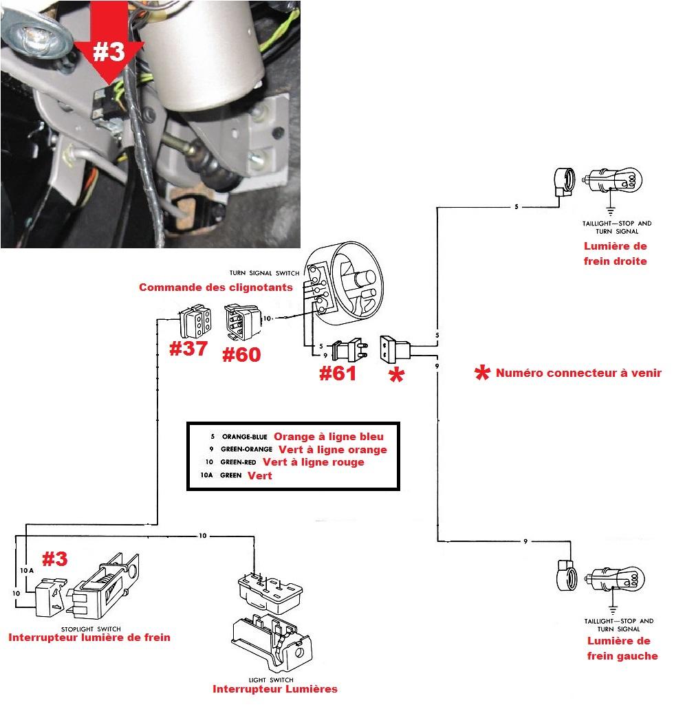 Mustang 1966: Sa se branche ou ? réponse à cette question ! Diagramme électrique  Brake_10