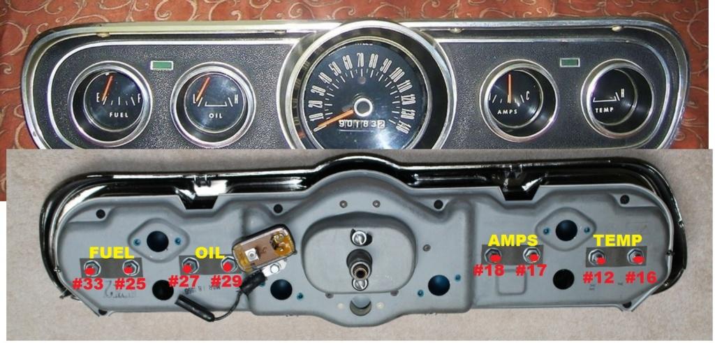 Mustang 1966: Sa se branche ou ? réponse à cette question ! Diagramme électrique  Cluste11
