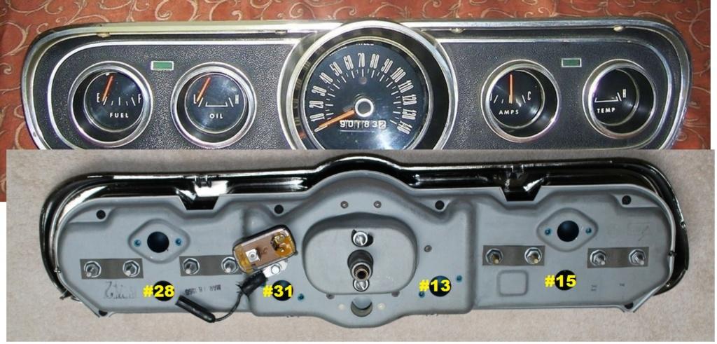 Mustang 1966: Sa se branche ou ? réponse à cette question ! Diagramme électrique  Cluste13