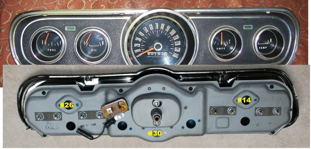 Mustang 1966: Sa se branche ou ? réponse à cette question ! Diagramme électrique  Cluste14