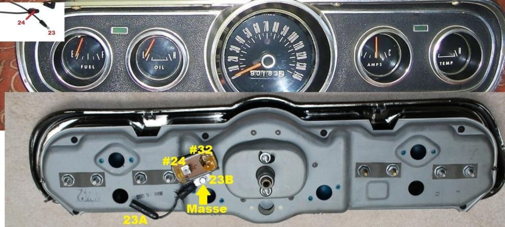 Mustang 1966: Sa se branche ou ? réponse à cette question ! Diagramme électrique  Cluste15